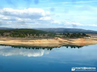 Ruta de las Caras-Embalse de Buendía; la acebeda viajes agosto la pedriza rutas